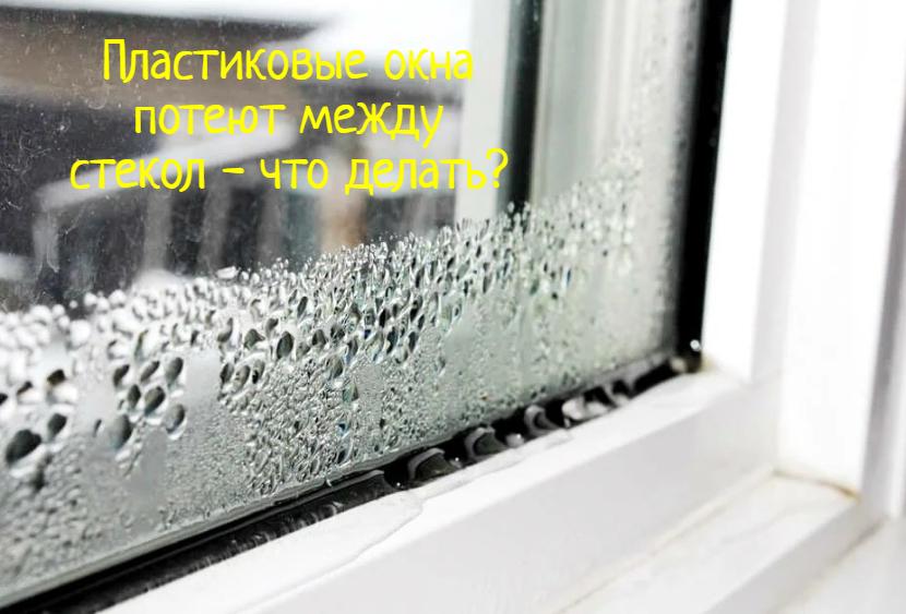 Пластиковые окна потеют между стекол – что делать?