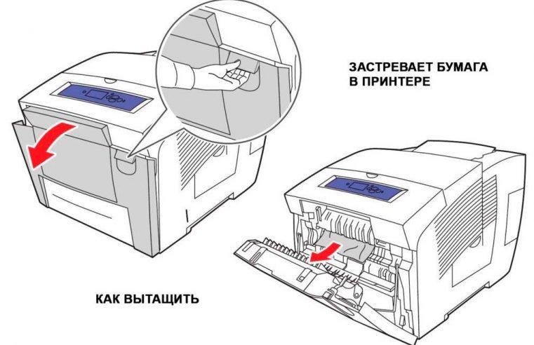 В принтере застряла бумага – что делать?